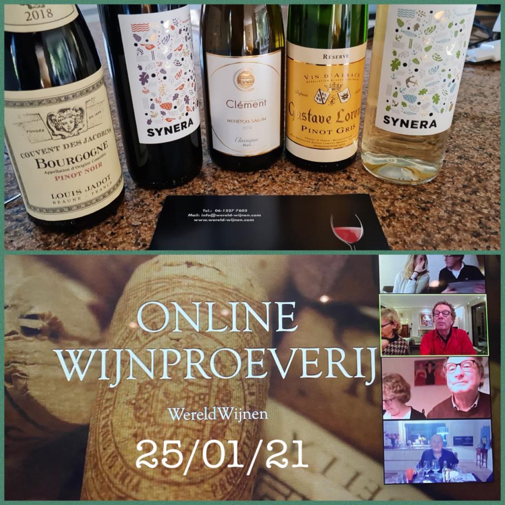 Online wijnproeverij 2021